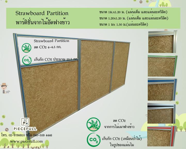 ลด CO2 กับผลิตภัณฑ์จากไม้อัดฟางข้าว